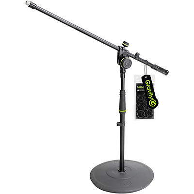 Gravity Stands Short Microphone Stand With Round Base And 2-Point Adjustment Boom