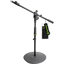 Open BoxGravity Stands Short Microphone Stand With Round Base And 2-Point Adjustment Telescoping Boom