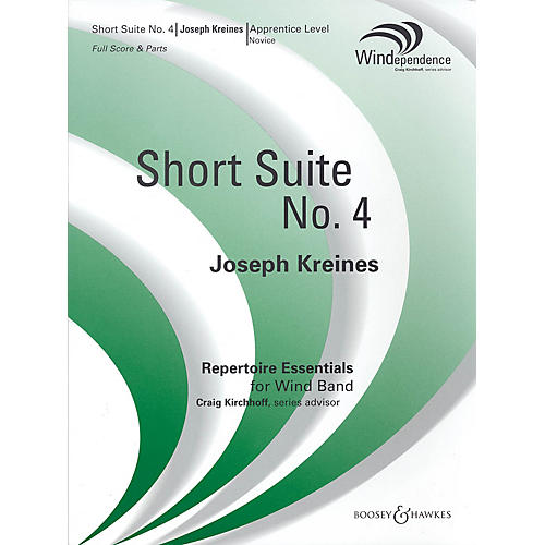 Boosey and Hawkes Short Suite No. 4 (Score Only) Concert Band Composed by Joseph Kreines