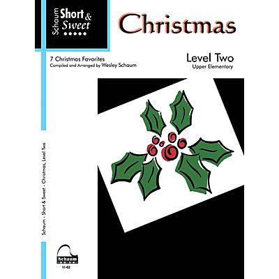 SCHAUM Short & Sweet: Christmas (Level 2 Upper Elem Level) Educational Piano Book
