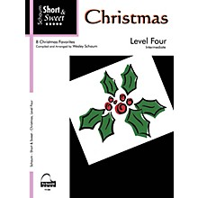 SCHAUM Short & Sweet: Christmas (Level 4 Inter Level) Educational Piano Book
