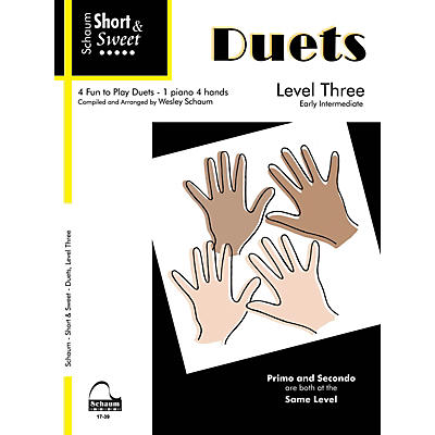 SCHAUM Short & Sweet: Duets Educational Piano Book (Level Early Inter)