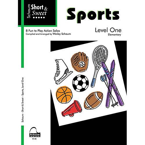 SCHAUM Short & Sweet: Sports (Level 1 Elem Level) Educational Piano Book