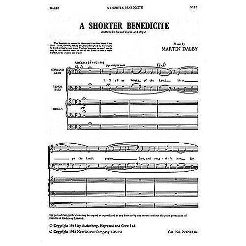 Novello Shorter Benedicte SATB Composed by Martin Dalby