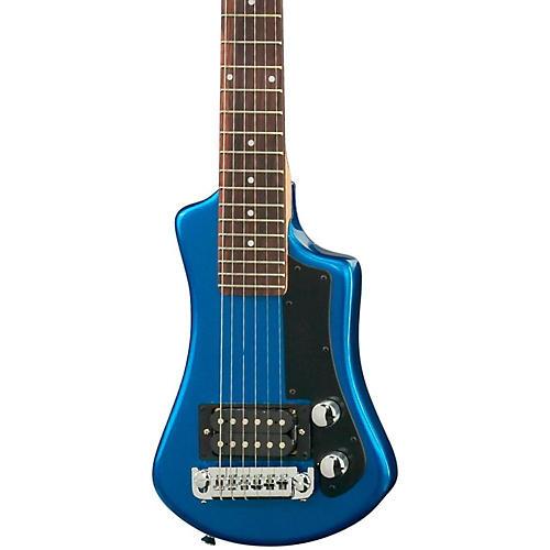 Hofner Shorty Electric Travel Guitar Blue