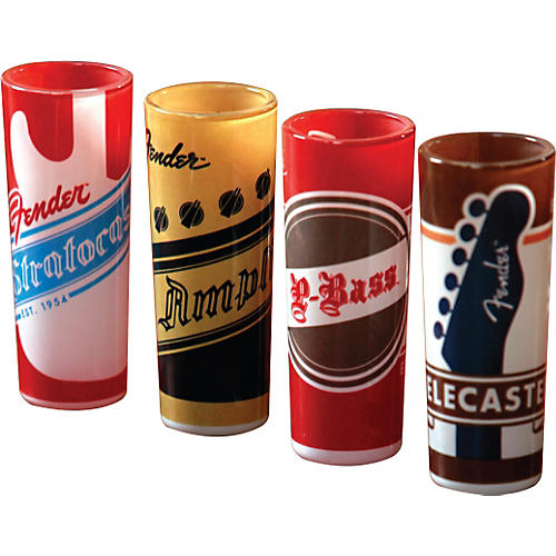 Fender Shot Glass, Fender Origins, Set of 4