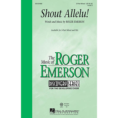 Hal Leonard Shout Allelu! (Discovery Level 2) 3-Part Mixed composed by Roger Emerson