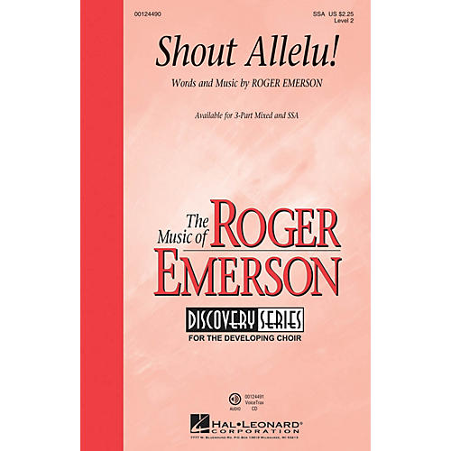 Hal Leonard Shout Allelu! (Discovery Level 2) SSA composed by Roger Emerson
