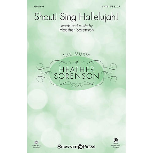 Shawnee Press Shout! Sing Hallelujah! Studiotrax CD Composed by Heather Sorenson