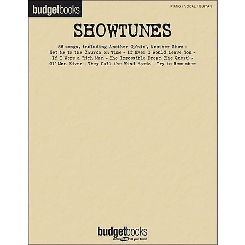Hal Leonard Showtunes - Budget Book arranged for piano, vocal, and guitar (P/V/G)