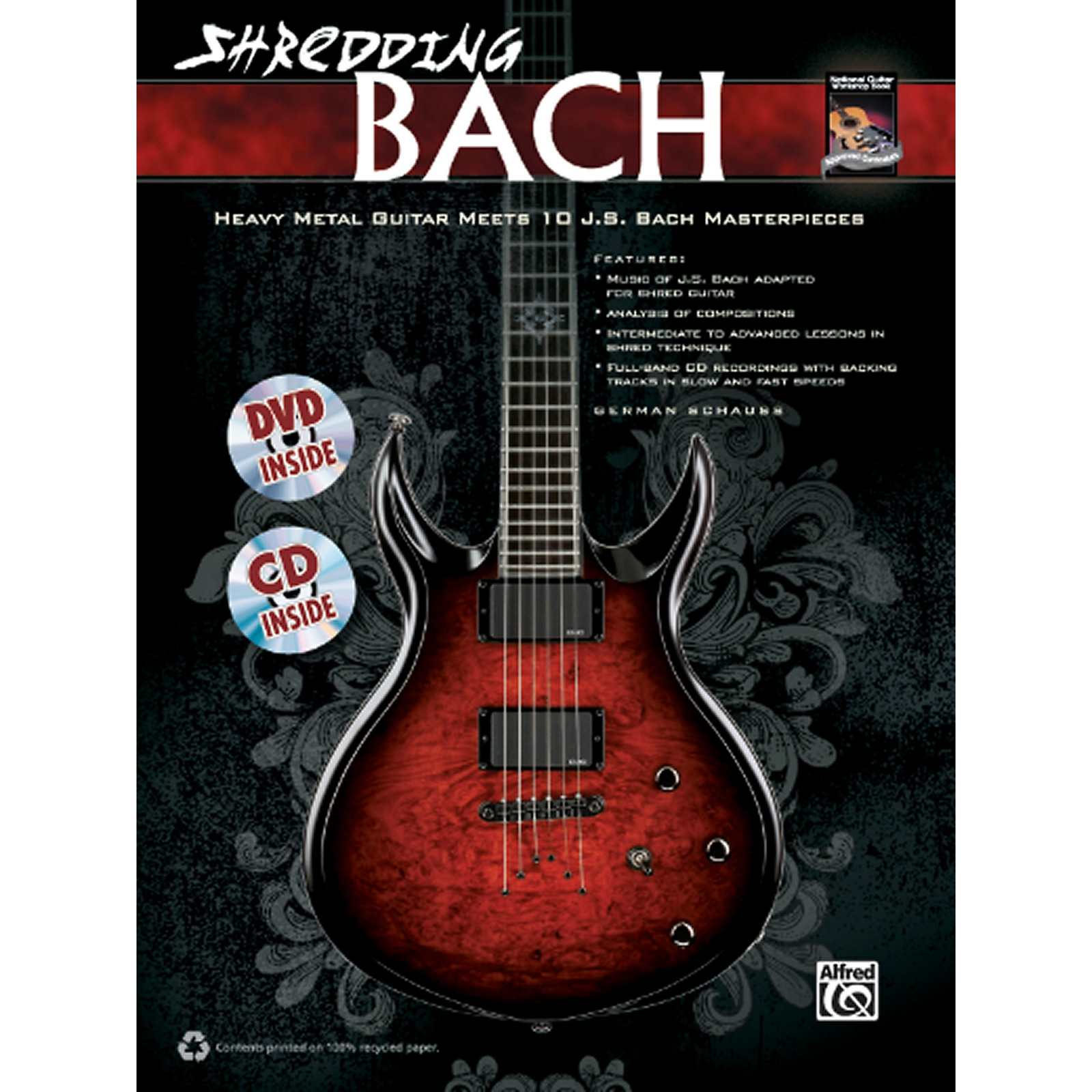 Alfred Shredding Bach Book, CD & DVD
