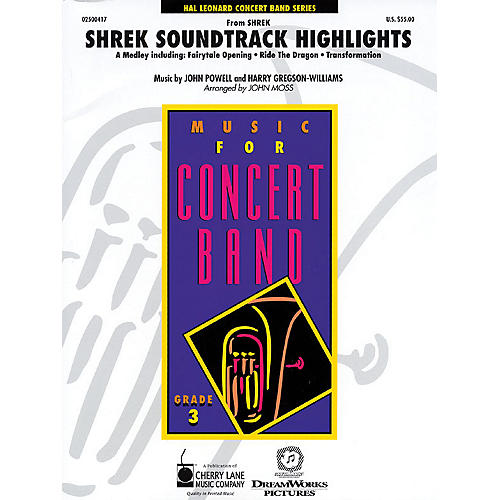 Cherry Lane Shrek Soundtrack Highlights - Young Concert Band Level 3 by John Moss