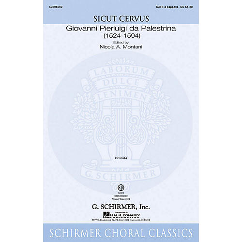 G. Schirmer Sicut Cervus VoiceTrax CD Composed by Giovanni Palestrina