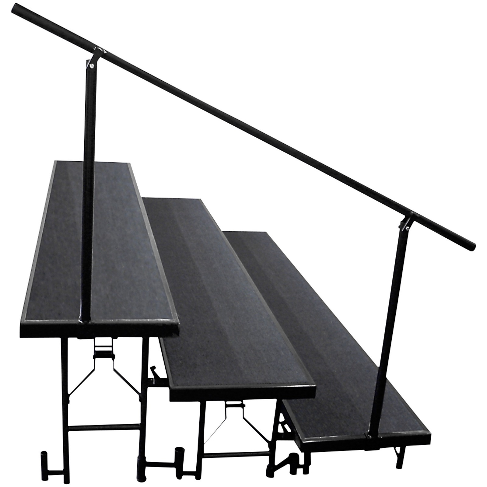 National Public Seating Side Guard Rails for Standard Risers