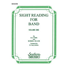 Southern Sight Reading for Band, Book 1 (Bassoon) Southern Music Series by Billy Evans
