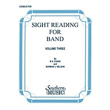 Southern Sight Reading for Band, Book 3 (Alto Sax 1) Southern Music Series  by Billy Evans