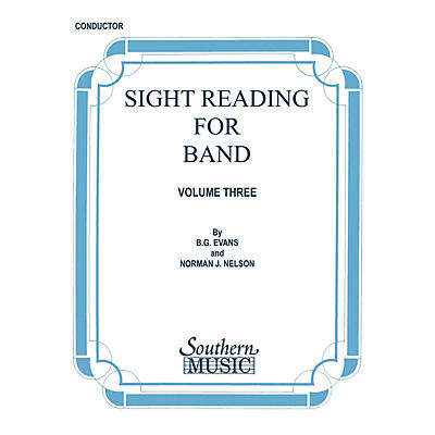 Southern Sight Reading for Band, Book 3 (Tuba in C (B.C.)) Southern Music Series Composed by Billy Evans