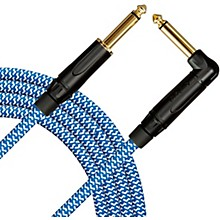 Livewire Signature Guitar Cable Straight/Angle Blue and White
