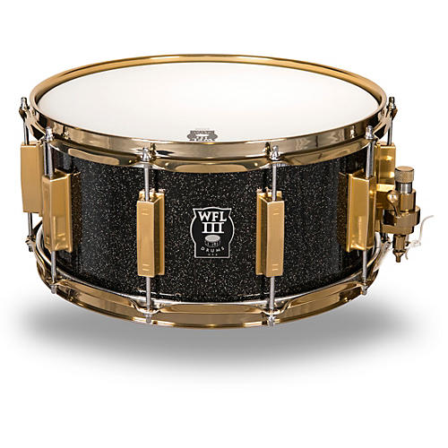WFL Signature Metal Snare Drum with Gold Hardware