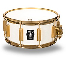 Signature Metal Snare Drum with Gold Hardware 14 x 6.5 in. White Sparkle