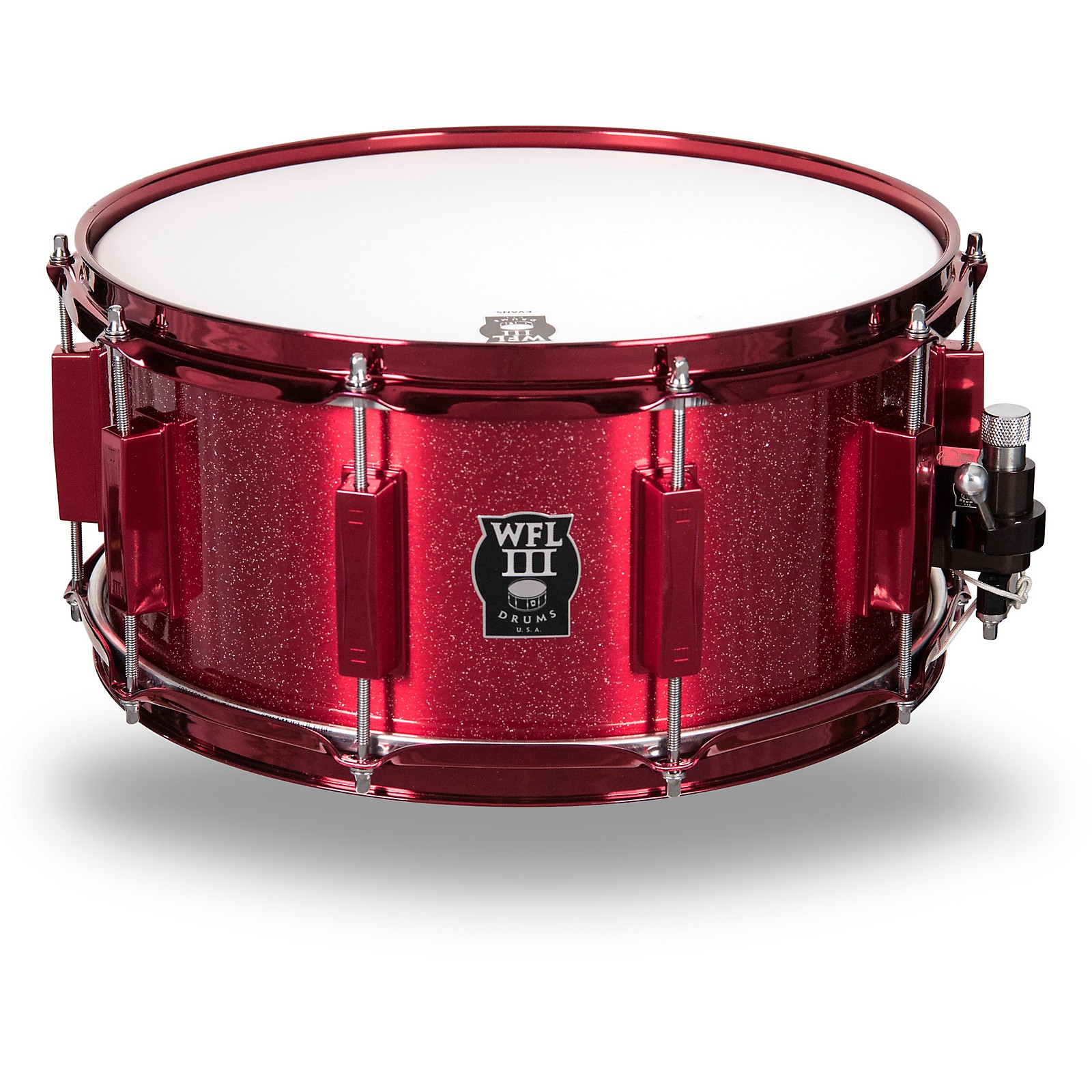 WFLIII Drums Signature Metal Snare Drum with Red Hardware
