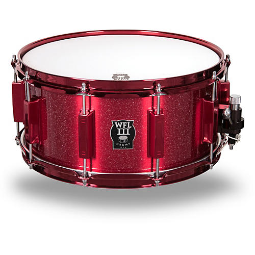 wfliii drums signature metal snare drum with red hardware 14 x 6 5 in rockin 39 red musician 39 s. Black Bedroom Furniture Sets. Home Design Ideas