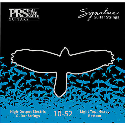 PRS Signature Series Electric Guitar Strings, Light Top/Heavy Bottom (.010-.052)