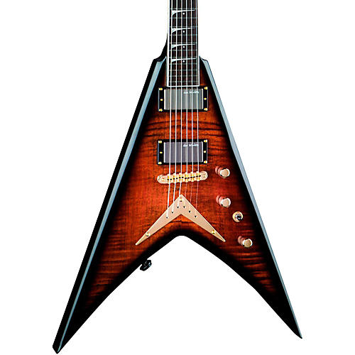 open box dean signature series vmnt limited edition dave mustaine electric guitar tiger eye. Black Bedroom Furniture Sets. Home Design Ideas
