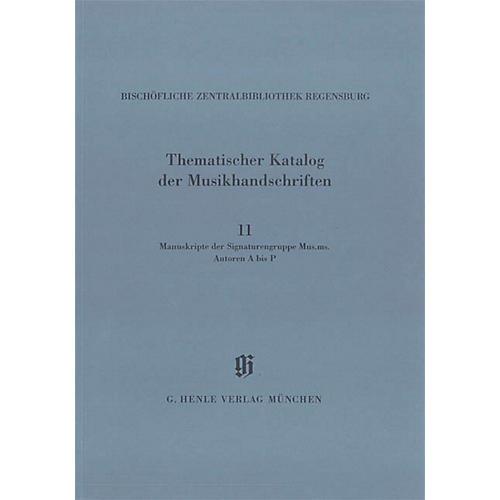 G. Henle Verlag Signaturengruppe Mus. ms. Autoren A-P Henle Books Series Softcover