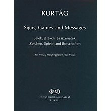 Editio Musica Budapest Signs, Games and Messages for Viola EMB Series