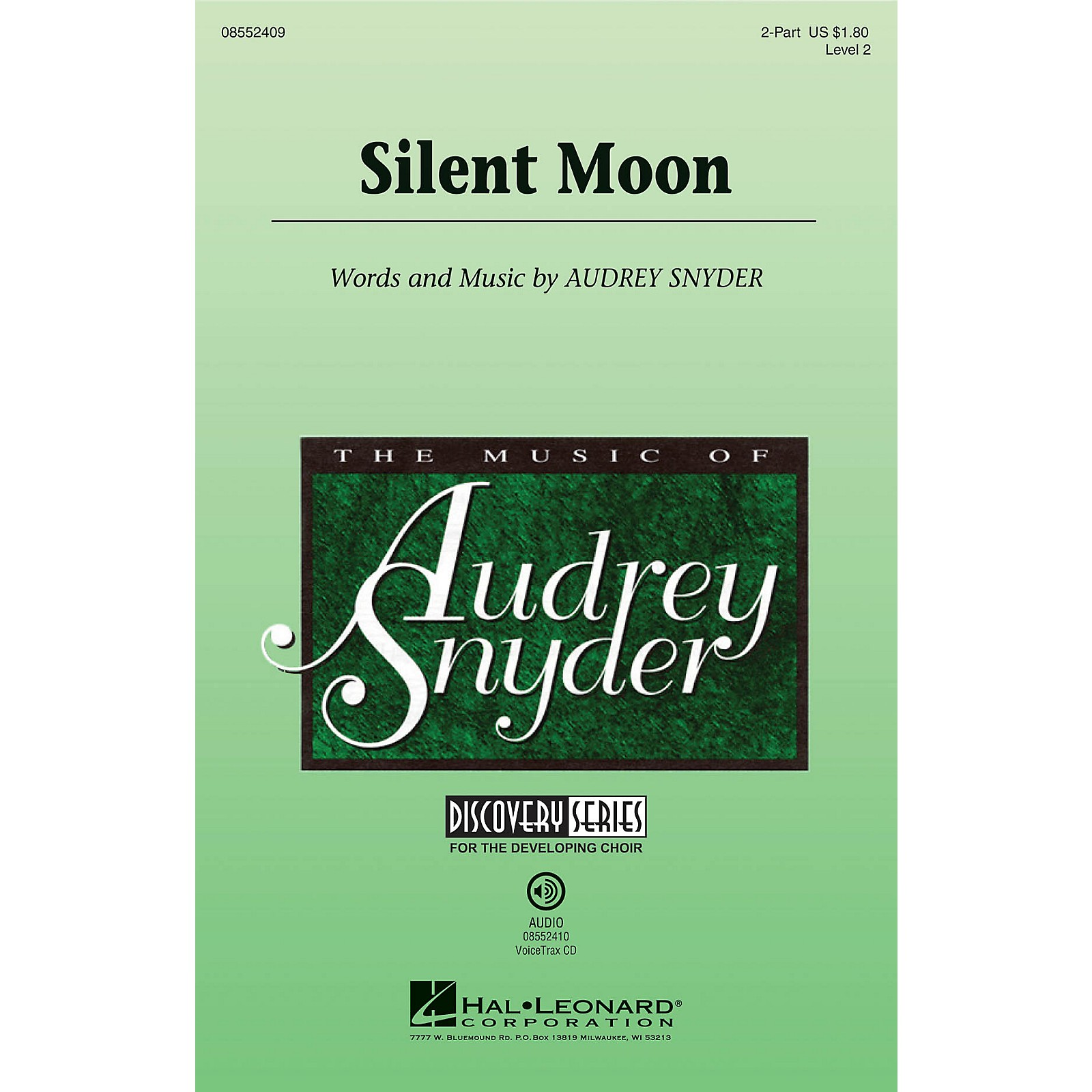 Hal Leonard Silent Moon (Discovery Level 2) 2-Part composed by Audrey Snyder