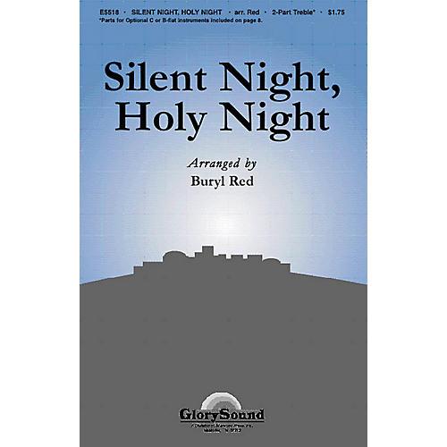 Shawnee Press Silent Night, Holy Night 2-Part arranged by Buryl Red