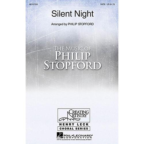 Hal Leonard Silent Night SATB arranged by Philip Stopford
