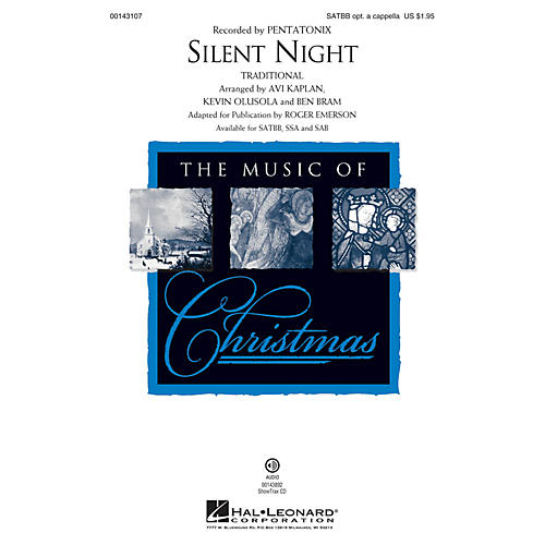 Hal Leonard Silent Night SSA by Pentatonix Arranged by Roger Emerson