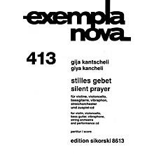 Sikorski Silent Prayer String Series Composed by Giya Kancheli (Kantscheli)