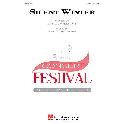Hal Leonard Silent Winter SSAA composed by J. Paul Williams