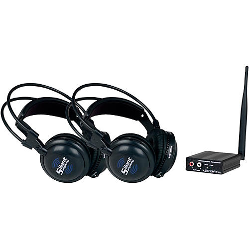 SilentSymphony-DUO Wireless Audio Broadcast and Headphone System with Two Headsets
