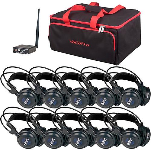 VocoPro SilentSymphony-Learn 10 Station Stereo Wireless Listening Center