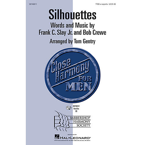 Hal Leonard Silhouettes TTBB A Cappella arranged by Tom Gentry