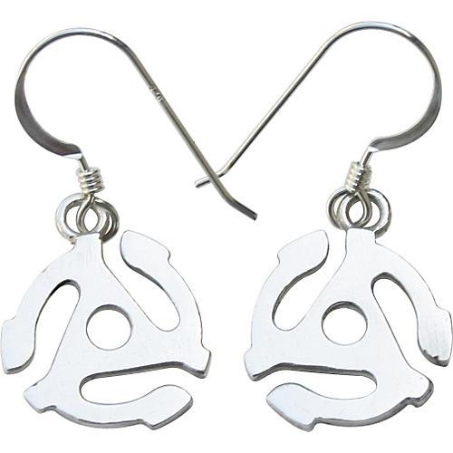Jeffrey David Silver 45 Adapter Earrings