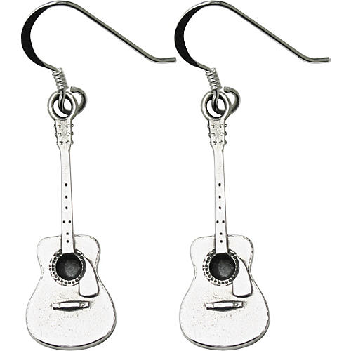 Jeffrey David Silver Acoustic Guitar Earrings