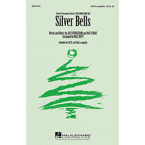 Hal Leonard Silver Bells SATB a cappella arranged by Mac Huff