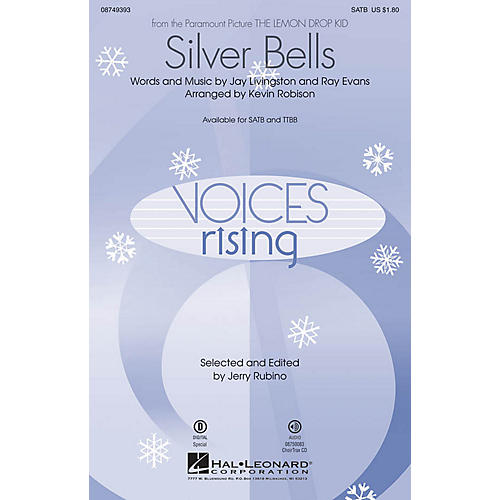 Hal Leonard Silver Bells SATB arranged by Kevin Robison