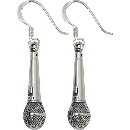 Jeffrey David Silver Microphone Earrings