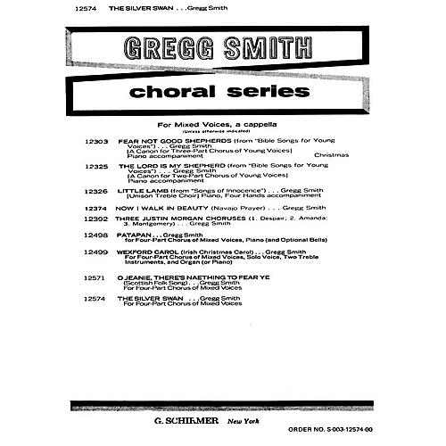 G. Schirmer Silver Swan A Cappella SATB composed by Gregg Smith