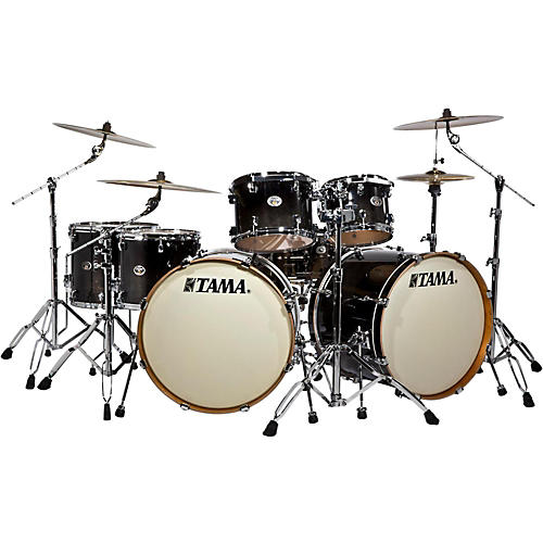 Tama Silverstar Double Bass Drum 7 Piece Shell Pack With Tom Stand