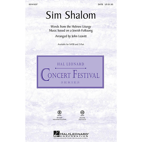 Hal Leonard Sim Shalom CHOIRTRAX CD Arranged by John Leavitt
