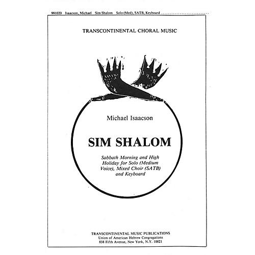 Transcontinental Music Sim Shalom SATB composed by Michael Isaacson