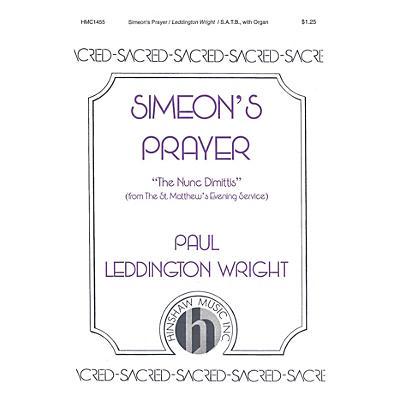 Hinshaw Music Simeon's Prayer SATB composed by Paul Leddington Wright