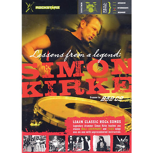 Rockstarz Simon Kirke - Lessons from a Legend Instructional/Drum/DVD Series DVD Written by Simon Kirke